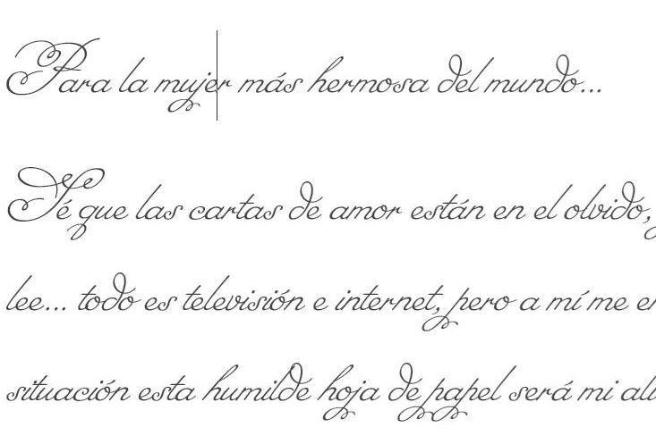 letras de amor para cartas